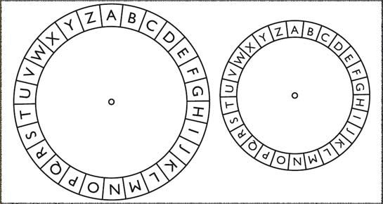 Clever image inside cipher wheel printable